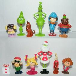 The Grinch Movie Cartoon PVC Figure Doll Toy Action Figures