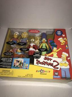 The Simpsons Family Christmas Playset  2001 Playmates TRU Ac