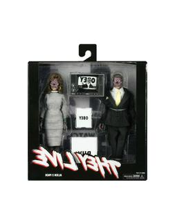 "NECA They Live 8"" Clothed Action Figures Alien 2 Pack NEW In"