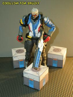 Three Easy-Fold Overwatch Loot Crates for Hasbro 6 inch Over