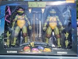 TMNT Neca 1990 Movie Leonardo & Donatello TURTLES 7 inch fig