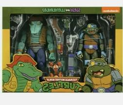 NECA TMNT Slash And Leatherhead Action Figure 2 Pack IN HAND