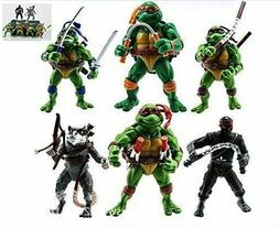 6pcs Teenage Mutant Ninja Turtles Action Figures  Classic Co