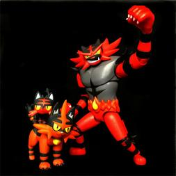 "TOKARA TOMY Pokemon 6"" Incineroar 2.5"" Torracat 2"" Litten Ac"