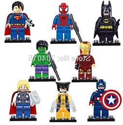 Toy Innovation- Super Heroes Series 8 Pcs Set Action Mini Fi