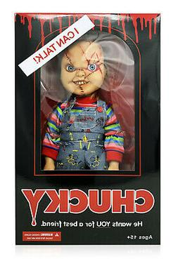 "Mezco Toyz Child's Play Mega Scale 15"" Talking Scarred Chuck"
