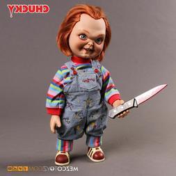 Mezco Toyz Child's Play Talking Chucky Sneering 15'' Good Gu