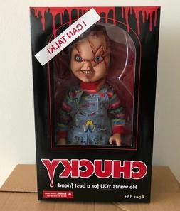 "Mezco Toyz Child's Play Talking Scarred Chucky 15"" Talking D"