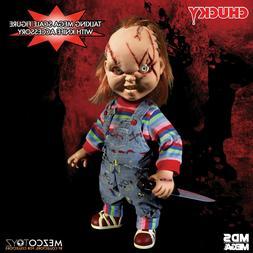 "Mezco Toyz Chucky Talking Doll Child's Play 15"" Mega Scale B"