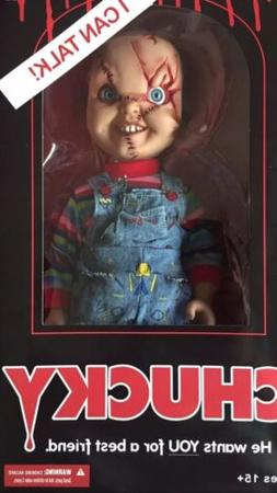 "Mezco Toyz Chucky Talking Doll Child's Play 15"" Mega Scale B"