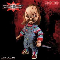 "Mezco Toyz Talking Scarred Chucky Mega Scale 15"" Doll Good G"