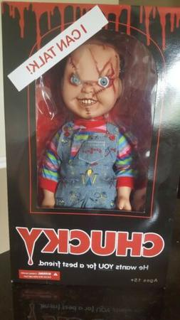 "Mezco Toyz Talking Scarred Chucky Mega Scale 15"" Doll Good G"