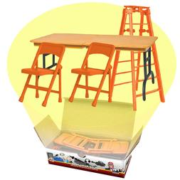 ULTIMATE Ladder, Table & Chairs Orange Playset For WWE Wrest