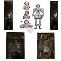 """ULTIMATE PENNYWISE WELL HOUSE Neca STEPHEN KING  2019 7"""" Inc"""