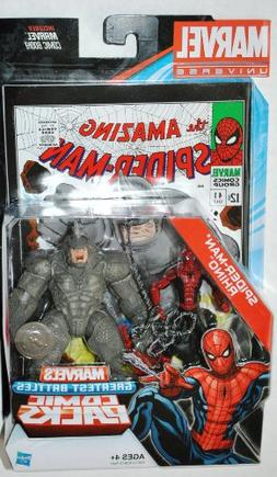 Marvel Universe Spider-Man & Rhino Exclusive Comic Pack Incl