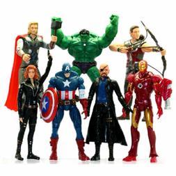 US 7PCS-Avengers-Action Figures Toys Hulk-Captain-America-Ir
