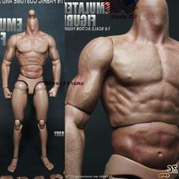 """US Zc Model Toy 1/6 Scale 12"""" Nude Male Muscular Figure Body"""