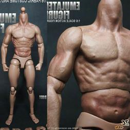 "USA 12"" ZC Toys Male Action Figure Muscular Body For 1/6 Sca"