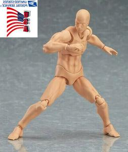 USA 6inch Figma Male Action Figure Body Model Toy Youth Vers