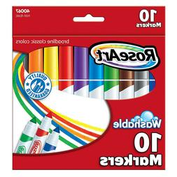 RoseArt Washable Broadline Markers, 10 Assorted Colors, 10/S