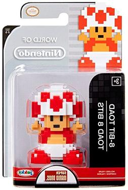 World of Nintendo Mario 8 Bit Red & White Toad Action Figure