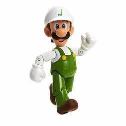 "World of Nintendo 91439 4"" Fire Luigi with Fire Flower Actio"