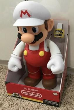 WORLD OF NINTENDO Super Fire Mario 20 inch Posable Figure by