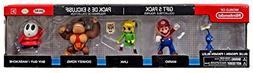 "World of Nintendo 2.5"" Variety Pack 5 Figure Gift Set Toy Fi"