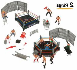 Wrestling Mini Game Playset with WWE Toy Figures Wrestlers 3