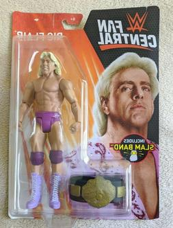 WWE Mattel Fan Central Ric Flair Action Figure w/ WH title s