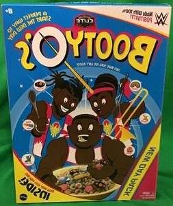 WWE NEW DAY PACK BOOTYO'S WRESTLING FAUX CEREAL BOX WITH ACT